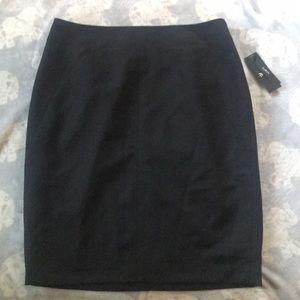 Black curvy fit pencil skirt